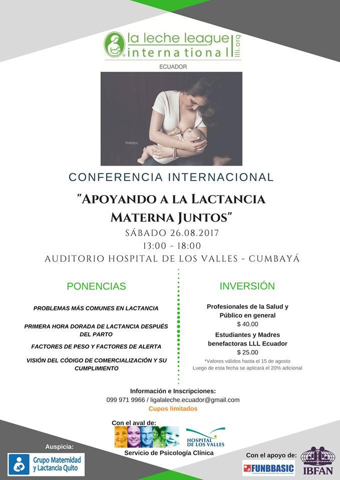 Conferencia internacional el próximo 26 de agosto