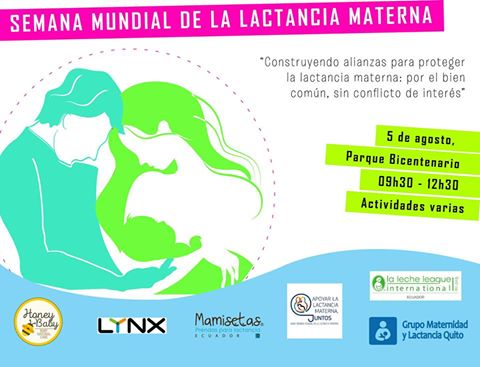 Semana mundial de la lactancia materna el próximo 05 de agosto
