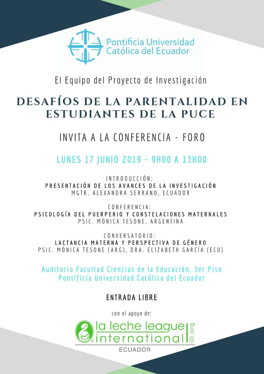 El Proyecto de Investigación «Desafíos de la Parentalidad en Estudiantes de la PUCE» invita